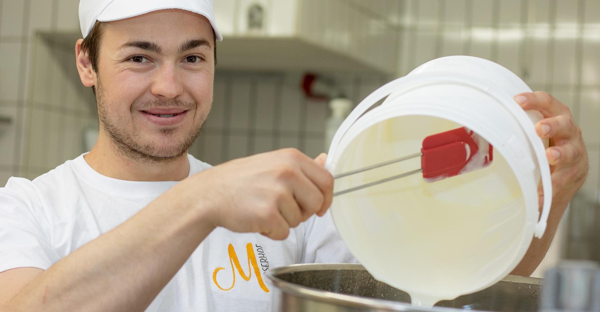 Joghurterzeugung Moserhof